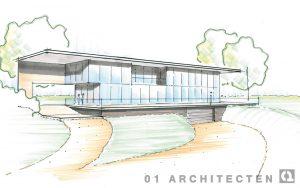 Schetsontwerp moderne villa