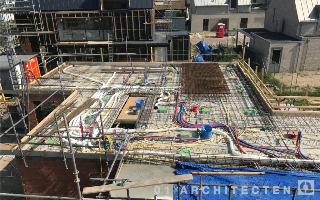 villabouw architectenbureau leidingen breedplaatvloer